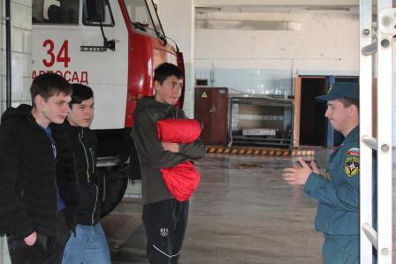 Экскурсия в пожарную часть № 34