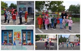 Воспитанники детского сада празднуют  День знаний