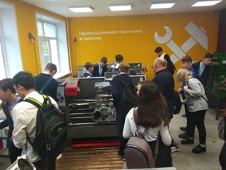 учащиеся школы посетили Новочебоксарский химико-механический техникум.